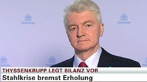 """Thyssenkrupp-Chef Hiesinger im n-tv Interview: """"Importdruck und Preisverfall haben uns massiv getroffen"""""""