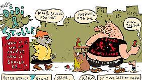 """Auch Merkel hat einen Gastauftritt bei """"Didi und Stulle""""."""