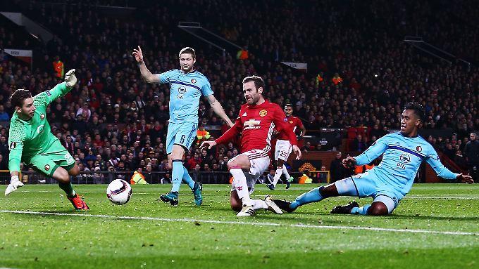 Juan Mata erzielte das 2:0 für Man United