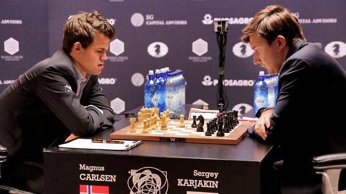 Magnus Carlsen, diesmal unerbittlich (Foto vom 21.11.)