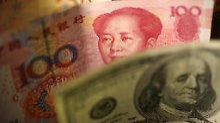 Starke Abwertung des Yuan zum US-Dollar.