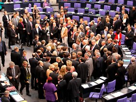 Abstimmung im Bundestag.