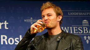 """Weltmeister im Partymodus: Rosberg: """"Ich bin bei 40 Prozent, aber ich geb' mir Mühe"""""""