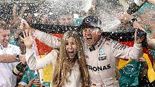 Alles richtig gemacht: Nico Rosberg mit seiner Frau Vivian Sibold.