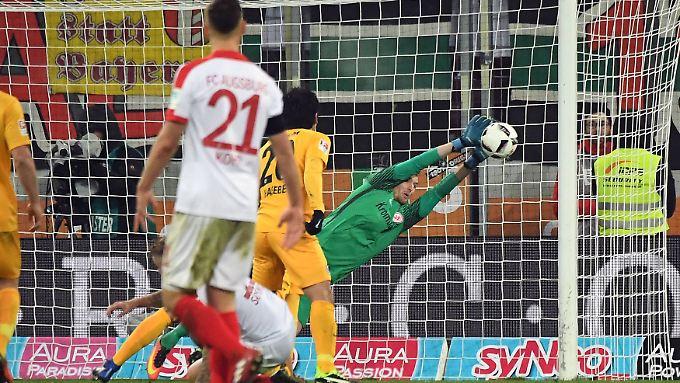 Viel beschäftigt, aber nur einmal bezwungen: Frankfurts Keeper Lukas Hradecky.