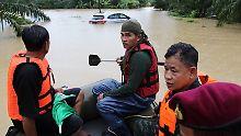 Heftige Monsunregen in Thailand: Ferieninsel Koh Samui ist überflutet