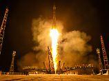 28. Mai 2014: Alexander Gerst hebt an Bord einer Sojus vom Weltraumbahnhof Baikonur ab. Drei Minuten später ist die Rakete im All.