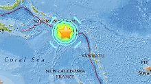 Das Epizentrum des Bebens lag nahe der Salomonen.