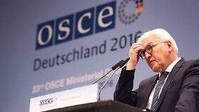 OSZE-Treffen in Hamburg: Steinmeier pocht auf Umsetzung der Ukraine-Vereinbarungen