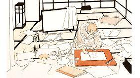 Igort stellt aber auch Künstler vor, die ihn inspiriert haben, wie den Maler Hokusai, der für seine Grafiken weltberühmt ist.