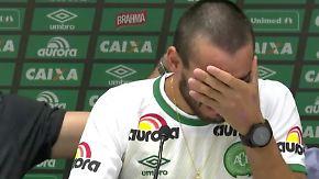 Flugzeugabsturz in Kolumbien: Überlebender Fußball-Profi gibt emotionale Pressekonferenz