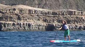 EM vor der Felsenküste von Gran Canaria: Deutsche räumen beim Stand Up Paddling ab