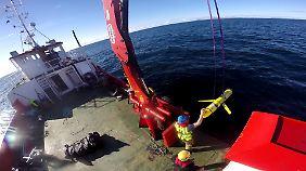 Ein von der US-Marine veröffentlichtes Foto zeigt ein Modell der zwischenzeitlich entwendeten Unterwasserdrohne.