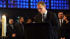 Der Berliner Bürgermeister Michael Müller kam am Vormittag zur Trauermesse in die Gedächtniskirche.