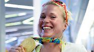 Doch auch bei der CDU geht es mitunter sportlich zu. So vertritt Ruder-Olympiasiegerin Julia Lier den Landesverband Sachsen-Anhalt, …