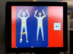 So sieht das Bild aus, das der körperscanner ausgibt.