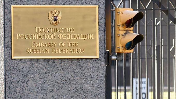 Russische Botschaft in Washington: Kurz vor dem Amtsantritt Donald Trumps erreichen die russisch-amerikanischen Beziehungen einen neuen Tiefpunkt.