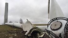 Dritter Unfall in drei Wochen: Windrad bei Hamburg stürzt um