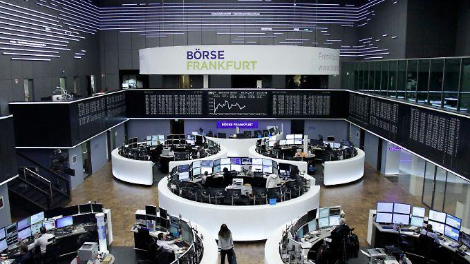 Der Dax hängt unter 11.600: Blick in den großen Handelssaal der Frankfurter Börse am vierten Börsentag des neuen Jahres.