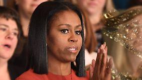 Letzter Auftritt als First Lady: Michelle Obama verabschiedet sich mit Tränen