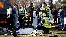 Attentäter rast in Menschenmenge: Tote bei Terroranschlag mit Lkw in Israel