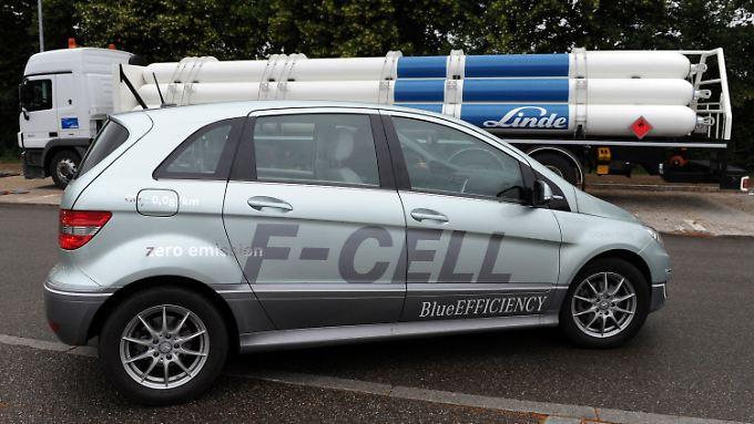 Der Mercedes F-Cell ist eines der Brennstoffautos von Daimler.