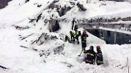 Lawinen-Unglück in Italien: Acht Menschen aus verschüttetem Hotel gerettet