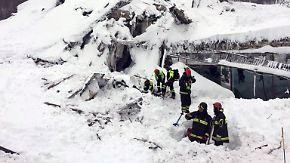 Lawine verschüttet Hotel in Italien: Rettungskräfte haben kaum Hoffnung auf Überlebende