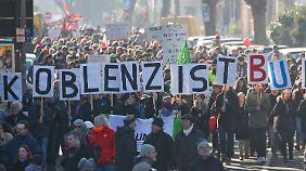 Tausende gingen in Koblenz auf die Straßen.