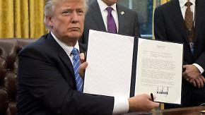 Ausstieg aus Freihandelsabkommen TPP: Trump leitet Kehrtwende in der US-Handelspolitik ein