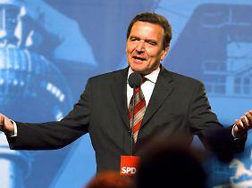 Dritter SPD-Kanzler: Gerhard Schröder.