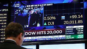 Mehrere Gründe: Dow Jones knackt erstmals die 20.000-Punkte-Marke