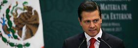Bau einer Grenzmauer: Mexikos Präsident Nieto ist empört über Trumps Anordnung