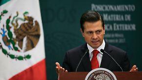 Bau einer Grenzmauer: Mexikos Präsident Nieto ist entrüstet über Trumps Anordnung