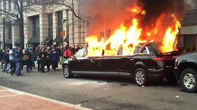 In Washington münden die Proteste gegen Trump in Gewalt.