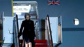 Zu Gast im Weißen Haus: In der EU wird Mays Besuch kritisch beäugt