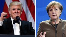 Erstmals seit Amtsantritt: Trump und Merkel wollen bald telefonieren