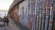Derzeit trennt noch ein Grenzzaun die USA und Mexiko.