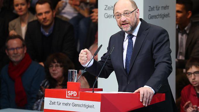 Erste Rede als SPD-Kanzlerkandidat: Schulz verbreitet Aufbruchstimmung