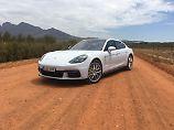 Optisch unterscheidet sich der Hybrid natürlich nicht von einem Porsche Panamera mit Verbrenner.