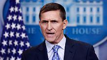 Der Sicherheitsberater von US-Präsident Trump, Michael Flynn, spricht am 01.02.2017 beim täglichen Pressebriefing im Weißen Haus in Washington. (zu dpa «USAkritisieren Iran scharf für Raketentest» vom 01.02.2017) Foto: Carolyn Kaster/AP/dpa +++(c) dpa - Bildfunk+++