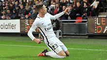 Julian Draxler ist mit einer Gala-Vorstellung gegen Stade Renne endgültig im Team von Paris St. Germain angekommen.