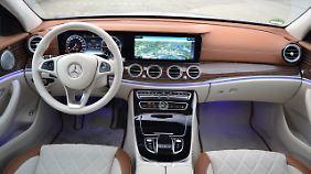 An Exklusivität ist die E-Klasse in der richtigen Ausstattung auf Augenhöhe mit der Mercedes S-Klasse.