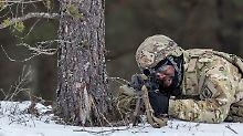 Ein Soldat der US-Armee bei einer Militärübung in Litauen.