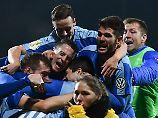 Der Jubel nach dem Sieg gegen Darmstadt 98 war grenzenlos. Das wollen die Spieler von Astoria Walldorf nochmal erleben.