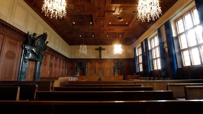 Der Schwurgerichtssaal 600, Schauplatz der Nürnberger Prozesse, wird heute noch für große Schwurgerichtsprozesse genutzt.