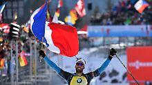 Verfolgung in der Biathlon-WM: Fourcade siegt, Deutsche medaillenlos