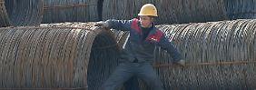 China weitet die Stahl-Überkapazitäten aus.