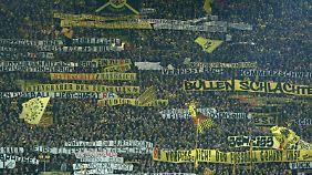 Die Plakate der BVB-Fans hatten für einen EKlat gesorgt.