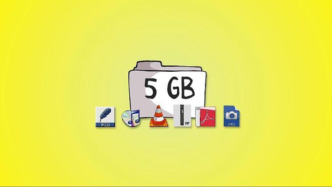 Spezialdienste wie Wesendit verschicken bis zu 5 Gigabyte große Dateien kostenlos.